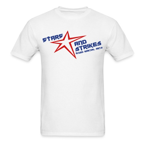 Stars and Strikes MMA white with classic logo - Men's T-Shirt