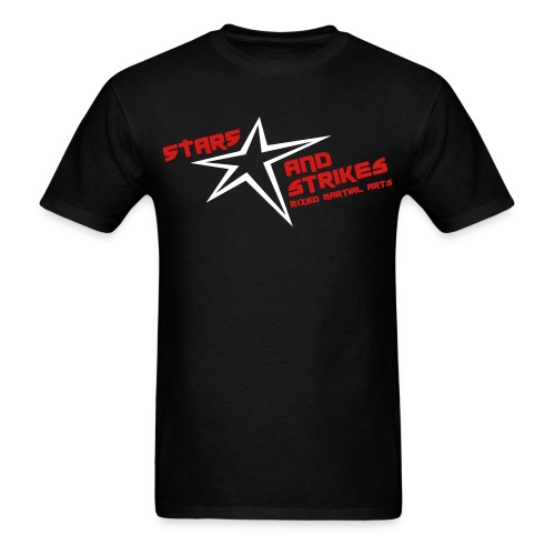 Stars and Strikes MMA black with classic logo - Men's T-Shirt