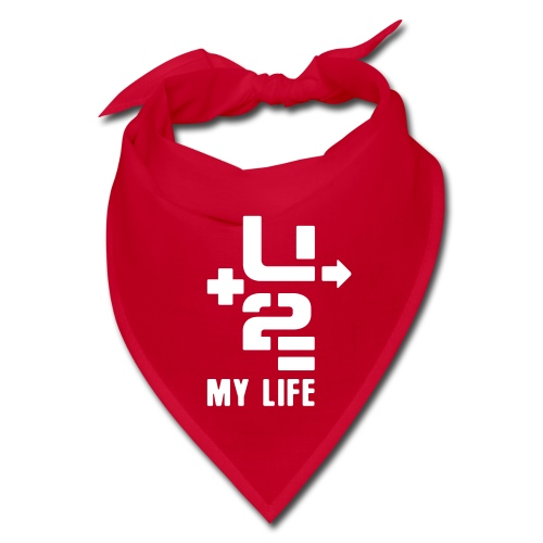 U+2=MY LIFE - front print - one size - multi colors - Bandana