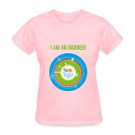 T-Shirts ~ Women's T-Shirt ~ Women's I am an Engineer T-Shirt (Front and Back Design)