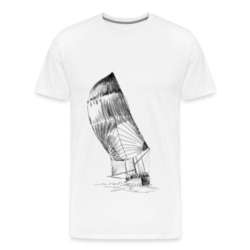 Sailing yacht - Men's Premium T-Shirt