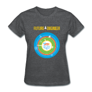 Women's T-Shirts ~ Women's T-Shirt ~ Women's Future Engineer T-Shirt (Front and Back Design)