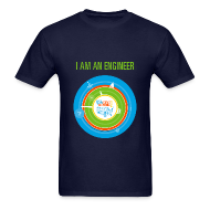 T-Shirts ~ Men's T-Shirt ~ Men's I am an Engineer Shirt (Front and Back Design)
