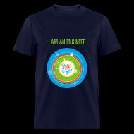 T-Shirts ~ Men's T-Shirt ~ Men's I am an Engineer Shirt (Front and Back Design)