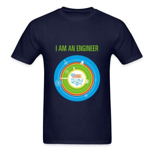 Men's I am an Engineer Shirt (Front and Back Design) - Men's T-Shirt