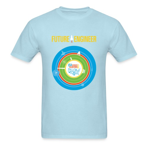 Men's Future Engineer T-Shirt (Front and Back Design) - Men's T-Shirt
