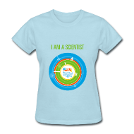 Women's T-Shirts ~ Women's T-Shirt ~ Women's I am a Scientist T-Shirt (Front and Back Design)