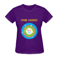 Women's T-Shirts ~ Women's T-Shirt ~ Women's Future Scientist Shirt (Front and back Design)