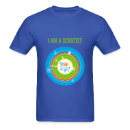 T-Shirts ~ Men's T-Shirt ~ Men's I am a Scientist T- Shirt (Front and Back Design)