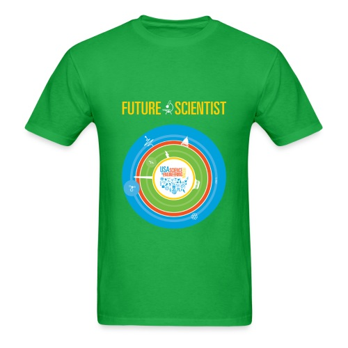 Men's Future Scientist T-Shirt (Front and Back Design) - Men's T-Shirt