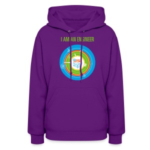 Women's  I am an Engineer Hoodie (Front and Back Design) - Women's Hoodie
