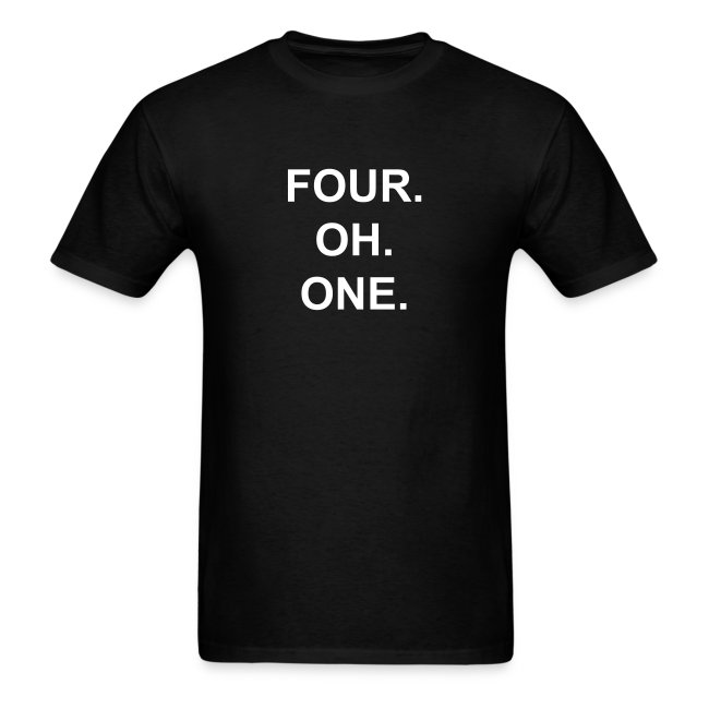 Four. Oh. One.