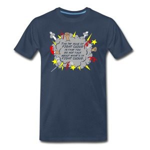 The Rules of Fight Cloud - Men's Premium T-Shirt