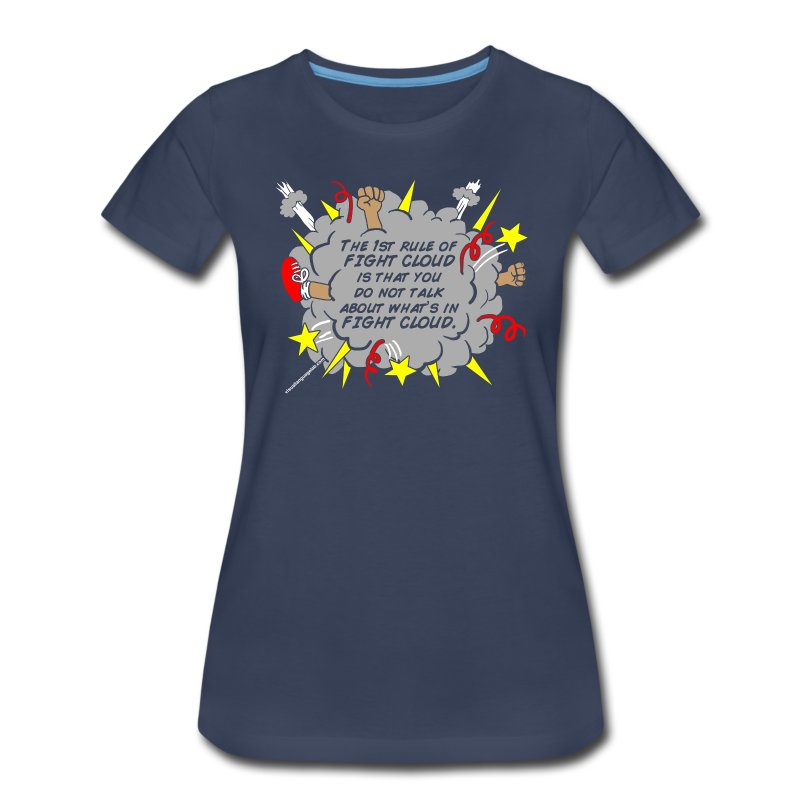 The Rules of Fight Cloud - Women's Premium T-Shirt