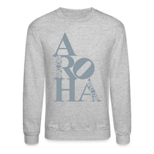 Aroha (love) for the people – silver - Crewneck Sweatshirt