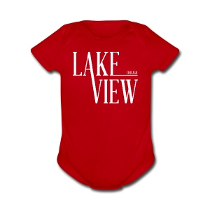 Lake View Chicago - Short Sleeve Baby Bodysuit