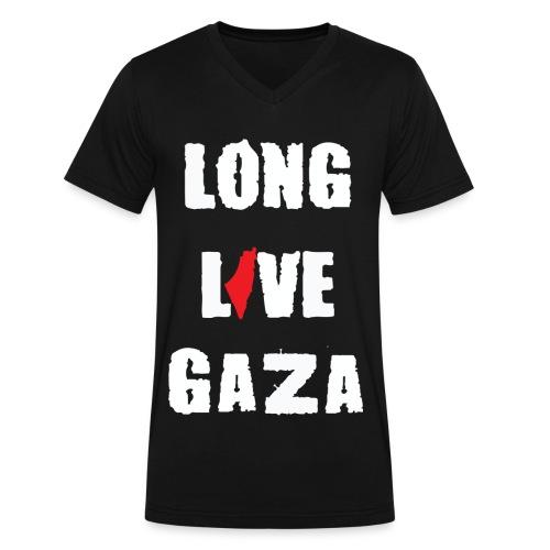 Long Live Gaza - Men's V-Neck T-Shirt by Canvas