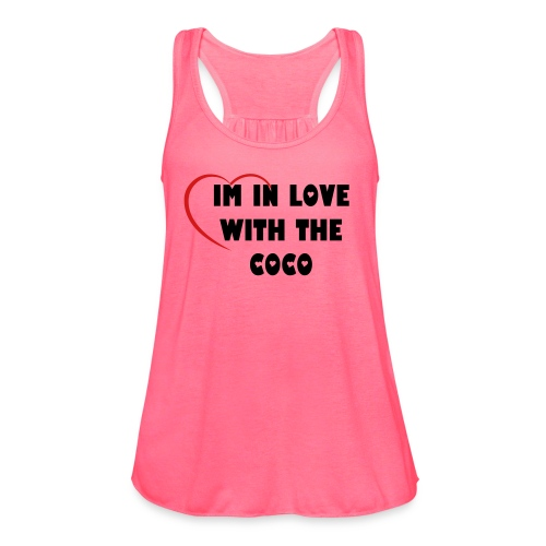 In love with the coco - Women's Flowy Tank Top by Bella