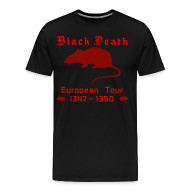 T-Shirts ~ Men's Premium T-Shirt ~ Double-sided BLACK DEATH Tour Shirt