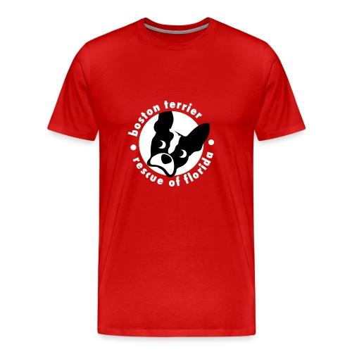 Men's Soft Cotton B&W Logo T-Shirt (dark) - Men's Premium T-Shirt