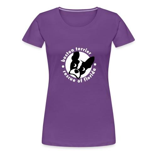 Women's Soft Cotton B&W Logo T-Shirt (dark) - Women's Premium T-Shirt