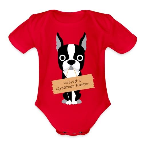 Baby One Piece - World's Greatest Farter - Organic Short Sleeve Baby Bodysuit