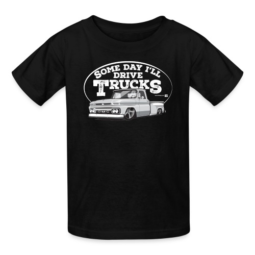 Kids 1964 GMC Short Stepside Tee (White graphic) - Kids' T-Shirt