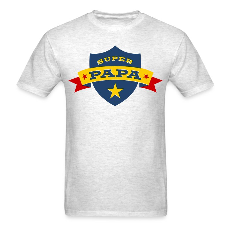 super papa shield t shirt spreadshirt. Black Bedroom Furniture Sets. Home Design Ideas