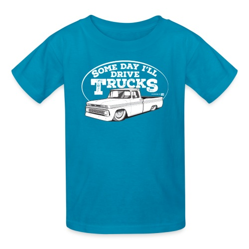 Kids 1963 Slammed C10 Longbed Fleetside Tee (White graphic) - Kids' T-Shirt