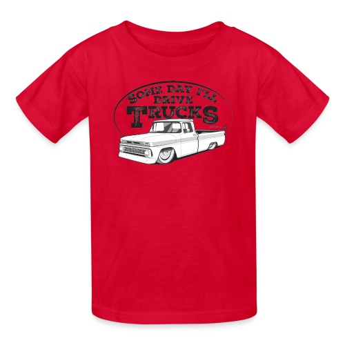 Kids 1963 Slammed C10 Longbed Fleetside Tee (Black graphic) - Kids' T-Shirt