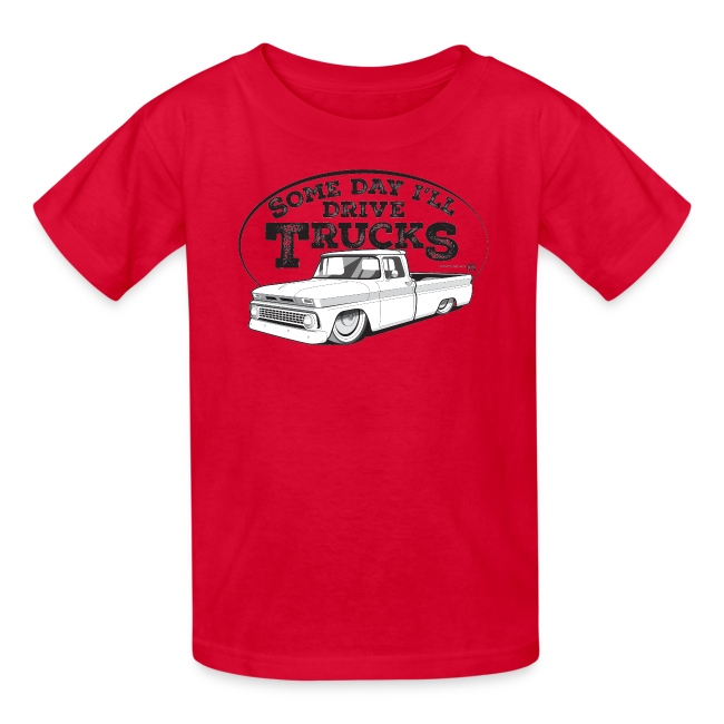 Kids 1963 Slammed C10 Longbed Fleetside Tee (Black graphic)