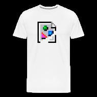 T-Shirts ~ Men's Premium T-Shirt ~ Broken Graphic / Missing Image Tee