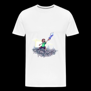 Minecraft Sword For The Win - Men's Premium T-Shirt