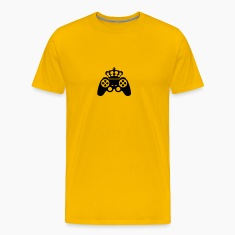 Gamer king Crown true controller logo King 8 bit T-Shirts