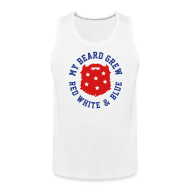 Tank Tops ~ Men's Premium Tank Top ~ Red, White, and Blue
