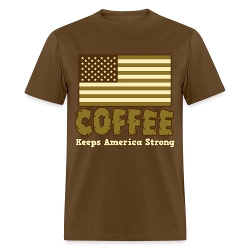 Coffee Keeps America Strong - Men's Tee - Men's T-Shirt