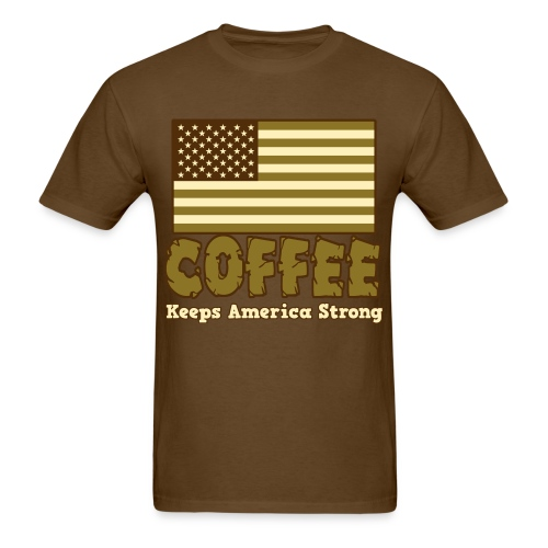 Coffee Keeps America Strong - Men's Tee - Men's T-Shirt