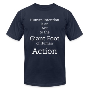 Human Action - Men's T-Shirt by American Apparel