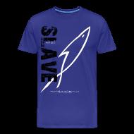 T-Shirts ~ Men's Premium T-Shirt ~ SLAVE (Multicolor on blue) Version 2