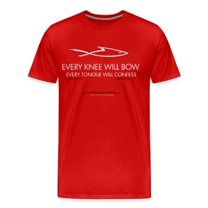 EVERY KNEE WILL BOW (Multicolor on red) Version 1 - Men's Premium T-Shirt