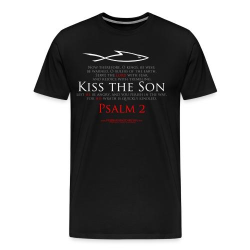 KISS THE SON (Multicolor on black) Version 1 - Men's Premium T-Shirt