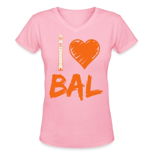 I (Bromo Tower) Love Baltimore - Women's V-Neck T-Shirt