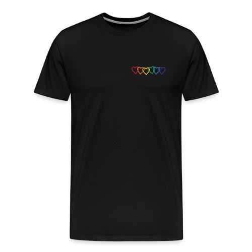 Black Pocket Hearts Tee - Men's Premium T-Shirt
