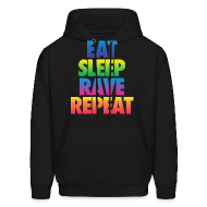Hoodies ~ Men's Hoodie ~ Eat Sleep Rave Repeat