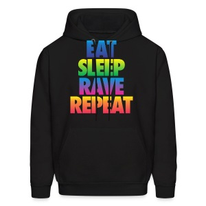 Eat Sleep Rave Repeat - Men's Hoodie