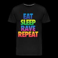 T-Shirts ~ Men's Premium T-Shirt ~ Eat Sleep Rave Repeat