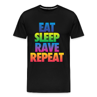 T-Shirts ~ Men's Premium T-Shirt ~ Eat Sleep Rave Repeat