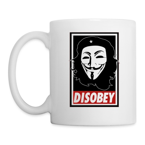 Anonymous Disobey Che White - Coffee/Tea Mug