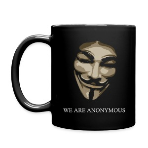 We Are Anonymous Mask Comicstyle - Full Color Mug