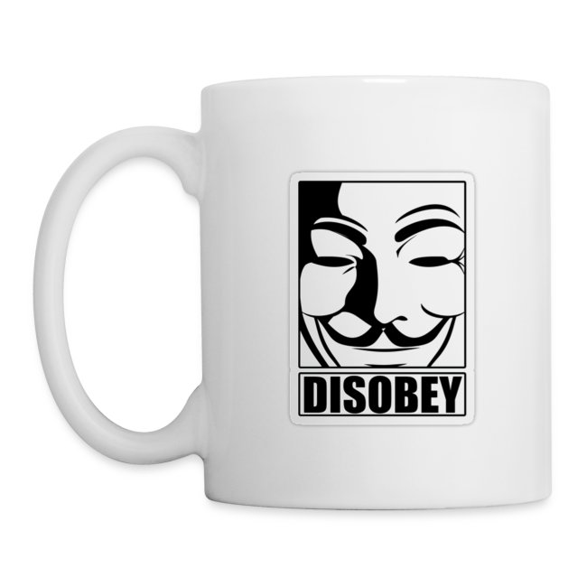 Anonymous Shop USA | Anonymous Disobey Frame White - CoffeeTea Mug
